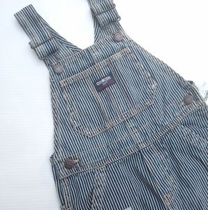 Oshkosh • railroad stripe boys 4t overalls NEW!